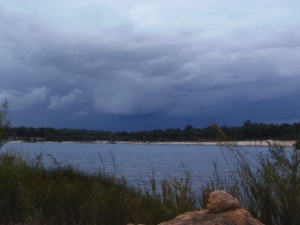 Storm brewing at Lake Stockton