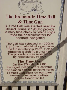 The Fremantle Time Ball and Time Gun Information