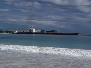 Ship Leaving Geraldton Port