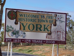 York Welcome Sign